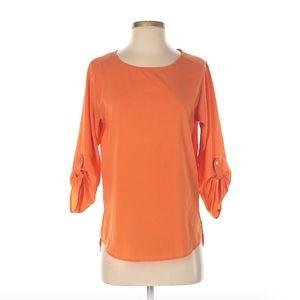 Zara Basic Orange Blouse